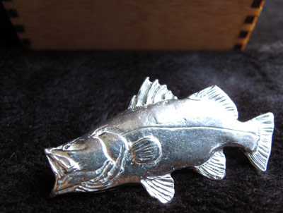 Pewter Barramundi Pin