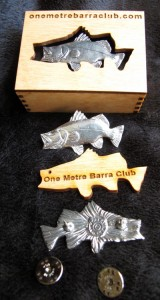 Soild Pewter Barramundi Pin in display box