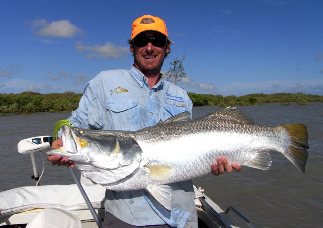 Andy Congram 106 cm Barramundi on fly