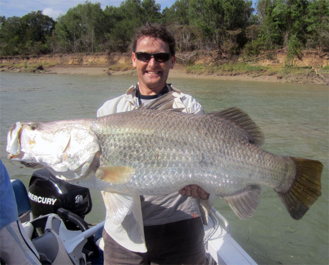 Stephen Watson 106 cm Barramundi , Daly River , NT