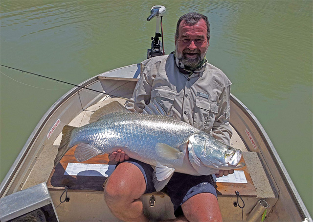 Wayne Keevers, 105cm Barramundi, Norman River