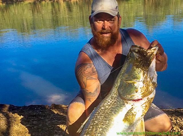 Stuart Wallace, 125cm, Fitzroy River, WA. 25/04/2018